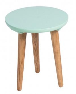 Stolik na drewnianych nogach Bergen mały