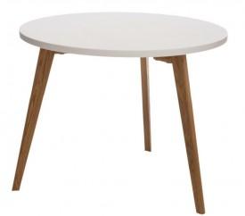 Okrągły stolik z drewnianym stelażem Oslo