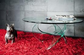 Stolik ze szkła giętego Fantazja