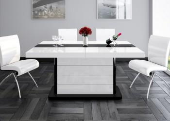 Rozkładany stół w wysokim połysku Pianosa