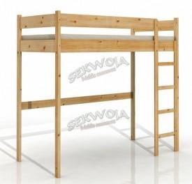 Łóżko sosnowe na antresoli Robin I