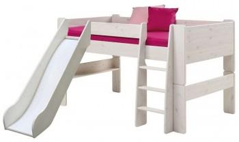 Łóżko na antresoli Nelly 90/200 niskie ze zjeżdżalnią
