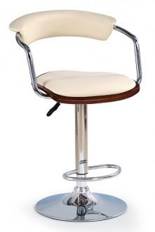 Krzesło barowe 19 czereśnia / beż