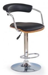 Krzesło barowe 19 orzech / czarny