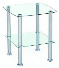 Szklany stolik nocny z półką Canaria