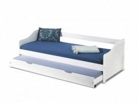 Białe łóżko dziecięce z dodatkowym spaniem Leonie 2