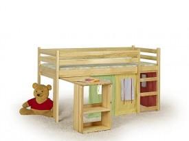 Dziecięce łóżko na antresoli Emi z wysuwanym biurkiem