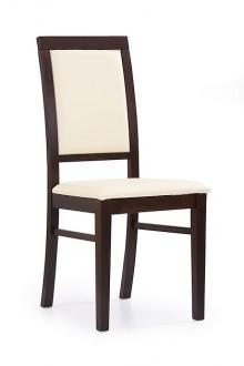 Klasyczne krzesło drewniane Sylwek 1 ekoskóra
