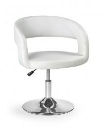 Fotel kawiarniany biały H41 z regulacją wysokości