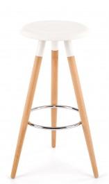 Designerski biały stołek barowy H50