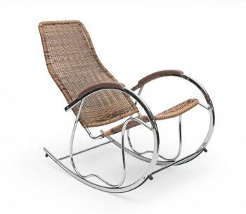 Fotel bujany na metalowych płozach Ben