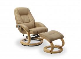 Fotel rozkładany z podnóżkiem Matador