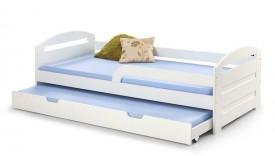 Białe lakierowane łóżko dziecięce Natalie 2