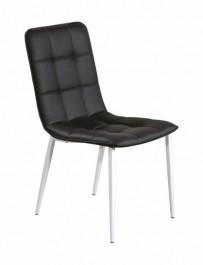 Czarne krzesło na białych nogach K191