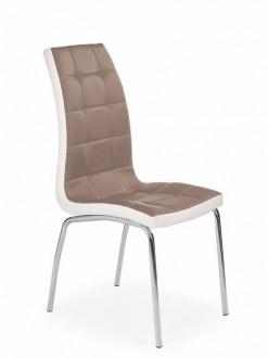 Dwukolorowe krzesło na chromowanych nogach K186