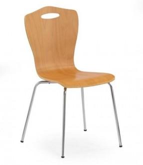 Krzesło na metalowym stelażu K84