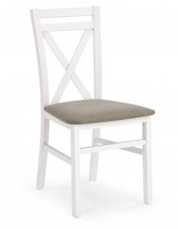 Drewniane krzesło z tapicerowanym siedziskiem Dariusz biały