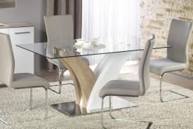 Stół ze szklanym blatem Vilmer