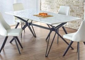 Stół Pascal z lakierowanym blatem i metalową ramą