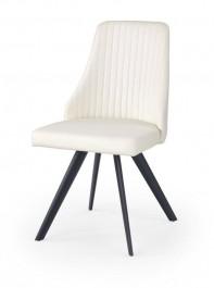 Wygodne biało czarne krzesło K206