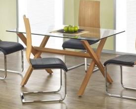 Nowoczesny stół ze szklanym blatem Gartner