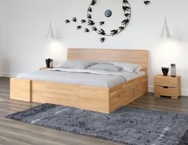 Łóżko bukowe Visby Hessler High Drawers