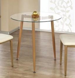 Stół ze szklanym blatem Ulster okrągły