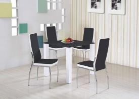 Stół ze szklanym blatem Merlot kwadrat