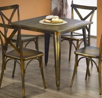 Stylizowany nierozkładany stół Magnum kwadrat