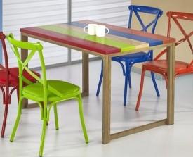 Nierozkładany stół z kolorowym blatem Garmin