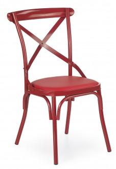 Kolorowe krzesło z tapicerowanym siedziskiem K216