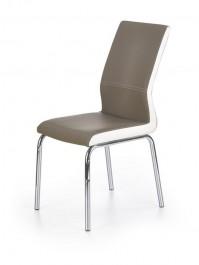 Tapicerowane krzesło z chromowanym stelażem K225