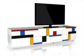 Nowoczesny stolik RTV Blues B078 Mondrian