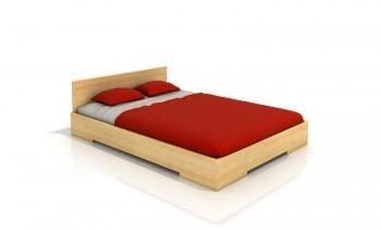 Niskie łóżko sosnowe Visby Loren
