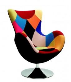 Elegancki fotel wypoczynkowy do salonu Butterfly Patchwork