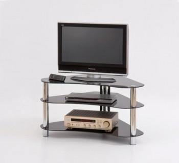 Czarny szklany stolik pod telewizor RTV13