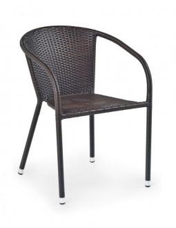 Brązowe krzesło ogrodowe Midas