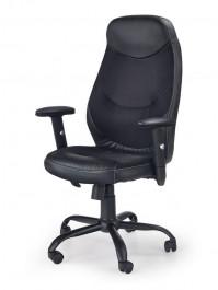 Czarne krzesło biurowe z ekoskóry Georg
