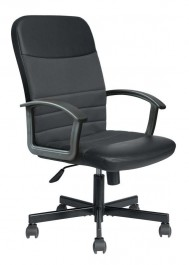 Czarny fotel gabinetowy Nabis