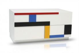 Nowoczesny stolik RTV Blues B0 Mondrian