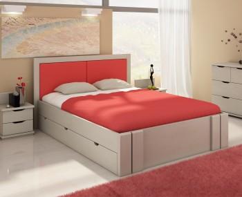 Łóżko sosnowe Visby Kronoberg High Drawers