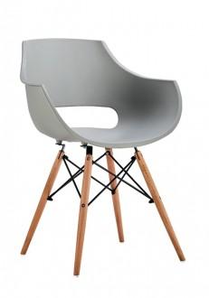 Designerskie krzesło na drewnianych nogach Foro