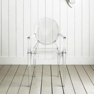 Krzesło Louis Ghost transparentne