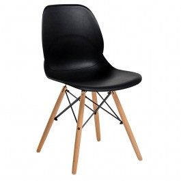 Krzesło z tworzywa sztucznego Leaf Wood