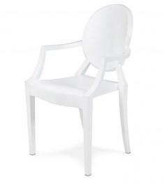Krzesło z podłokietnikami matowe Louis Ghost PP