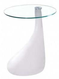 Lakierowany stolik nocny ze szklanym blatem Lula