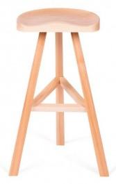 Drewniany stołek barowy Brick Natural