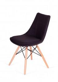 Komfortowe krzesło Fabric do jadalni na drewnianych nogach
