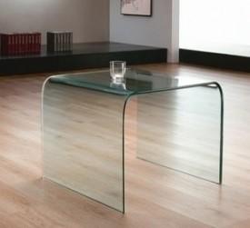 Kwadratowa szklana ława Uno