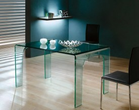 Szklany stół do jadalni Moderno